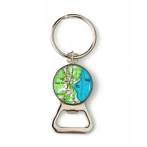 Sandy Point Combination Bottle Opener with Key Ring