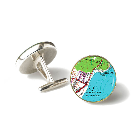 Scarborough Beach RI Cufflinks