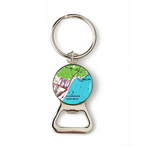 Scarborough Beach RI Combination Bottle Opener With Key Ring