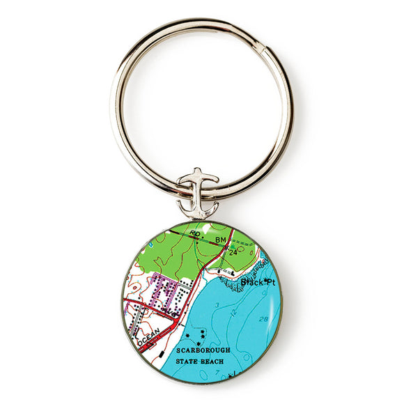 Scarborough Beach RI Anchor Key Ring