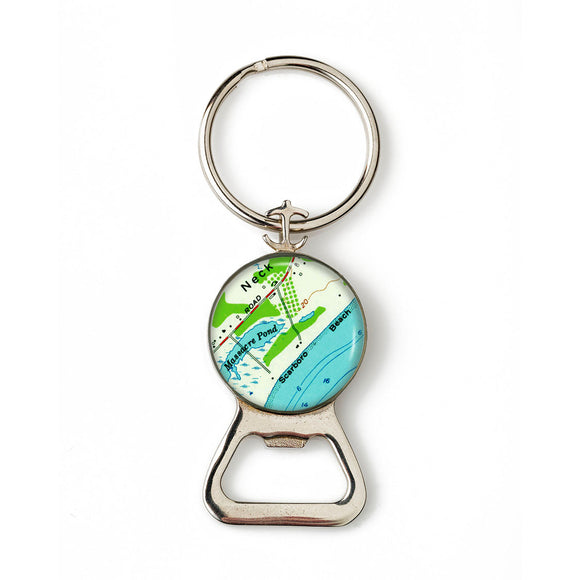 Scarborough Beach Combination Bottle Opener With Key Ring