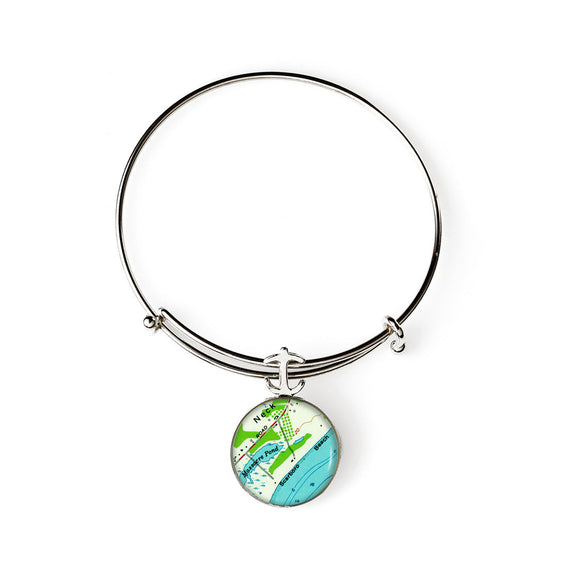 Scarborough Beach Expandable Bracelet with Anchor Charm