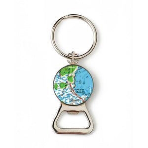 Scituate Minot Beach Combination Bottle Opener with Key Ring