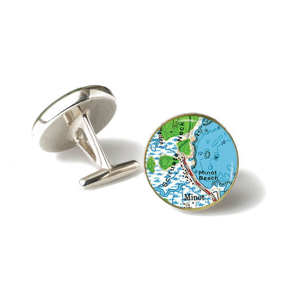 Scituate Minot Beach Cufflinks