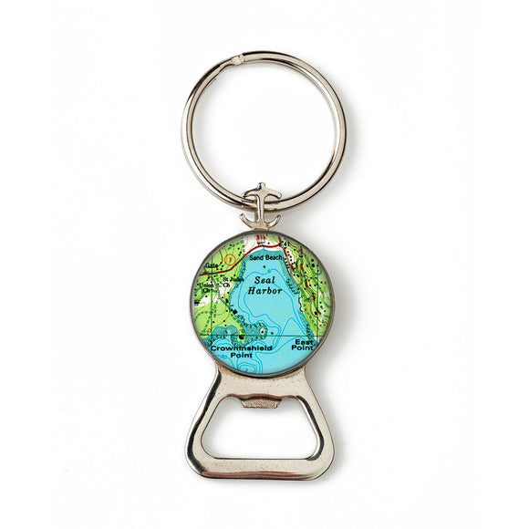 Seal Harbor 2 Anchor Combination Bottle Opener with Key Ring