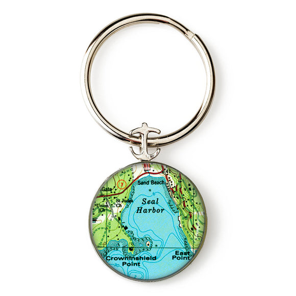 Seal Harbor 2 Anchor Key Ring