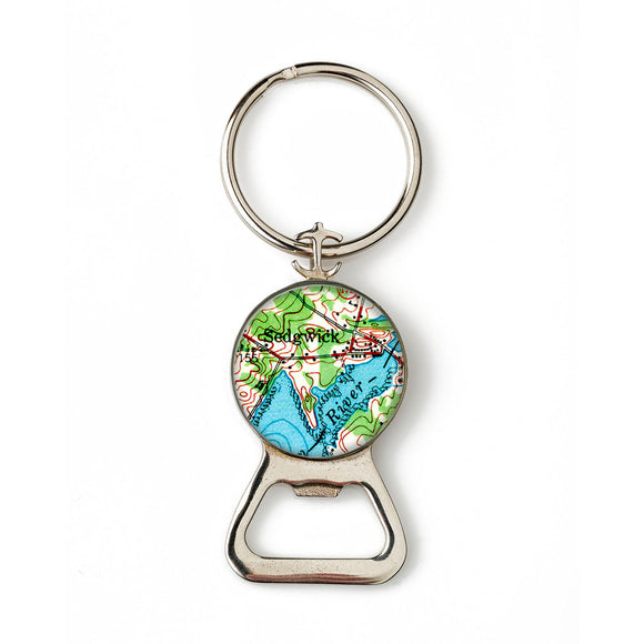 Sedgwick Anchor Combination Bottle Opener with Key Ring