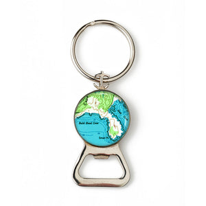 Small Point Combination Bottle Opener with Key Ring