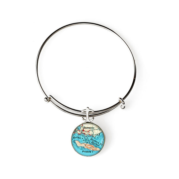 Sorrento Expandable Bracelet with Anchor Charm