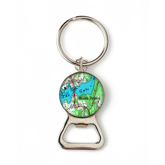 South Bristol The Gut Combination Bottle Opener with Key Ring