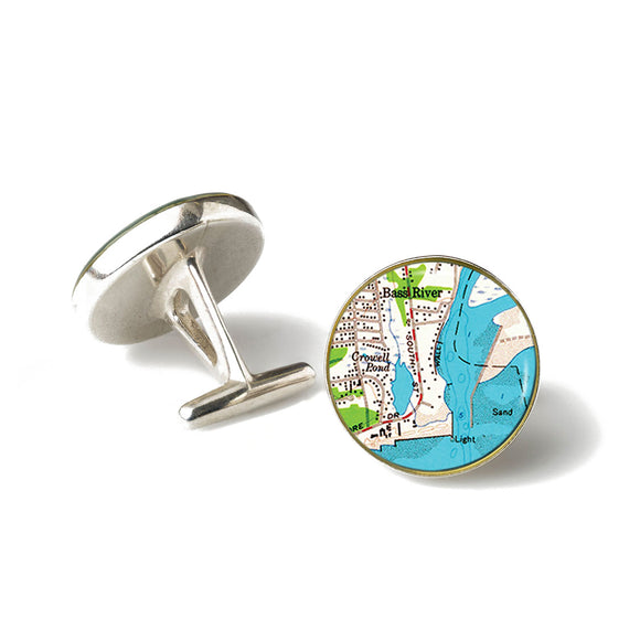 South Yarmouth Bass River Cufflinks