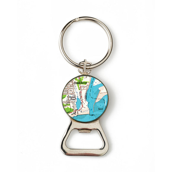 South Yarmouth Bass River Combination Bottle Opener with Key Ring