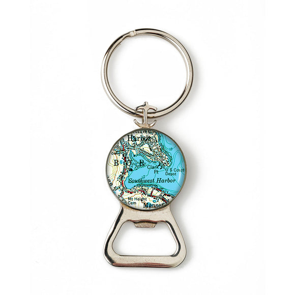 Southwest Harbor 2 Anchor Combination Bottle Opener with Key Ring