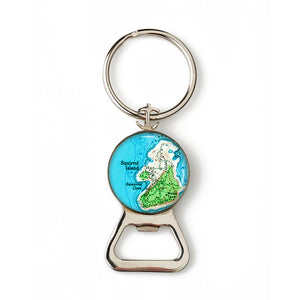 Squirrel Island Combination Bottle Opener with Key Ring