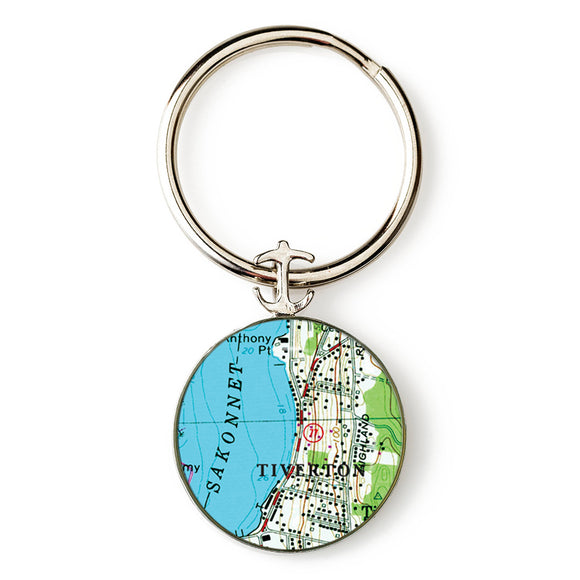 Tiverton Anchor Key Ring