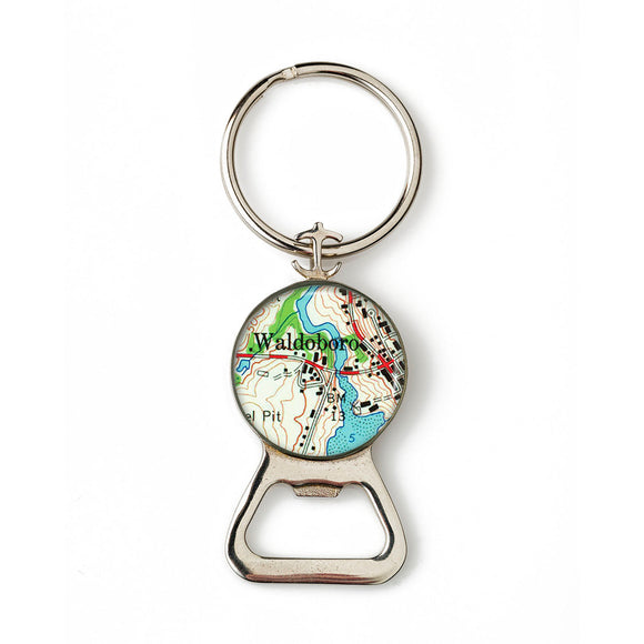 Waldoboro Combination Bottle Opener with Key Ring