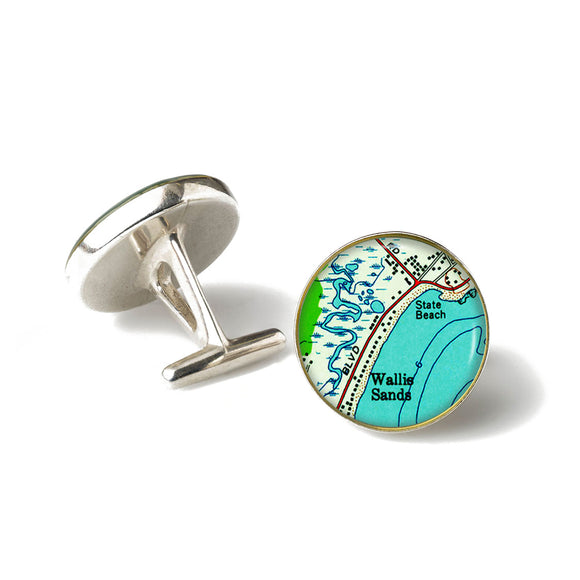 Wallis Sands Beach Cufflinks