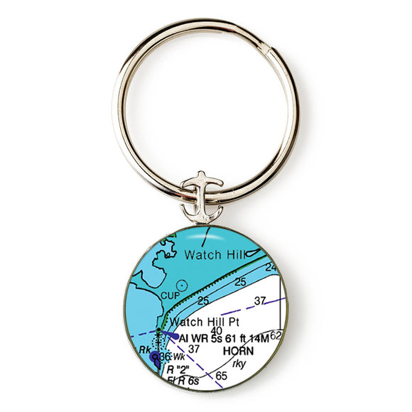Watch Hill 2 Anchor Key Ring