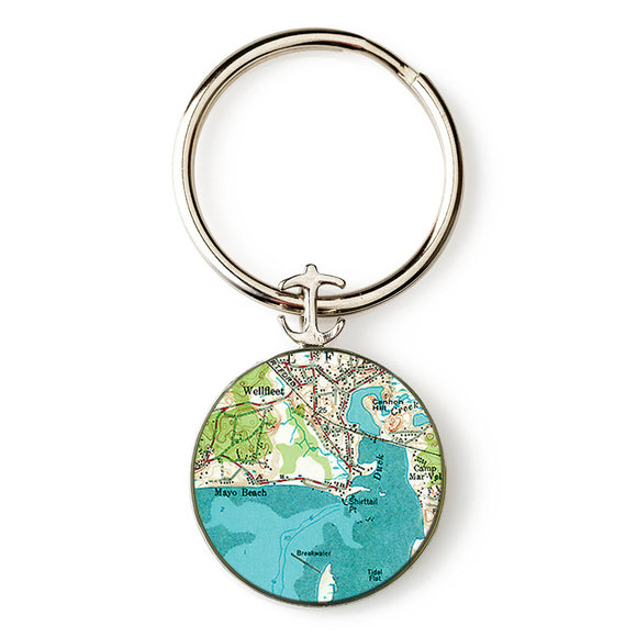 Wellfleet Mayo Beach Anchor Key Ring