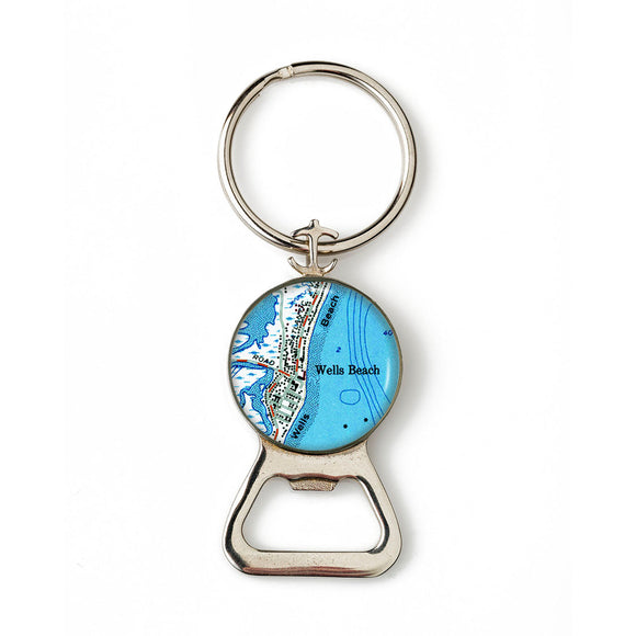 Wells Beach 1 Combination Bottle Opener with Key Ring