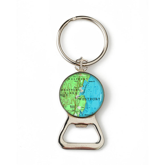 Westport Island Combination Bottle Opener with Key Ring