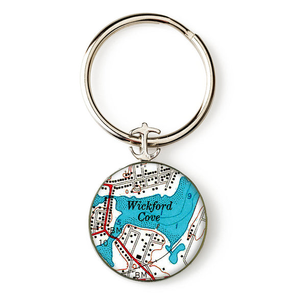 Wickford Cove Anchor Key Ring