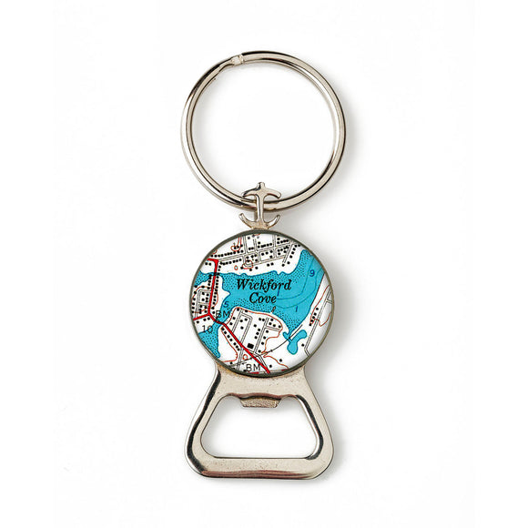 Wickford Cove Combination Bottle Opener With Key Ring
