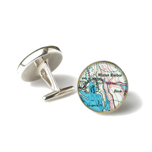 Winter Harbor 1 Cufflinks