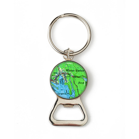Winter Harbor 2 Anchor Combination Bottle Opener with Key Ring