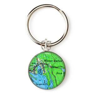 Winter Harbor 2 Anchor Key Ring