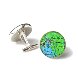 Winter Harbor 2 Cufflinks