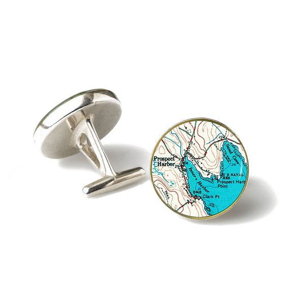 Winter Harbor Prospect Harbor Cufflinks