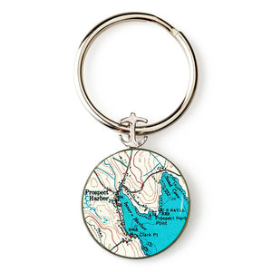 Winter Harbor Prospect Harbor Anchor Key Ring