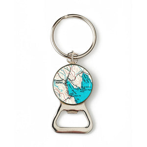 Winter Harbor Prospect Harbor Anchor Combination Bottle Opener with Key Ring