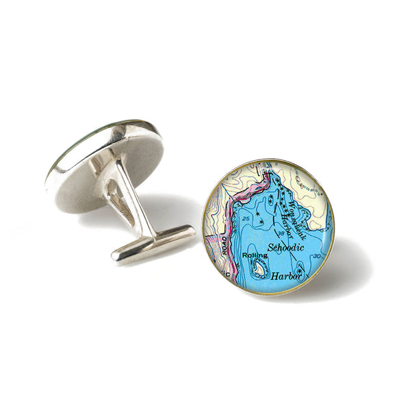 Winter Harbor Schoodic Harbor Cufflinks