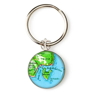 Winter Harbor Schoodic Point Key Ring