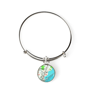 Wiscasettt Expandable Bracelet with Anchor Charm