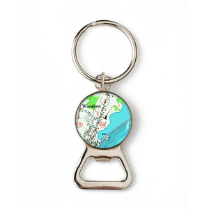 Wiscasettt Combination Bottle Opener with Key Ring