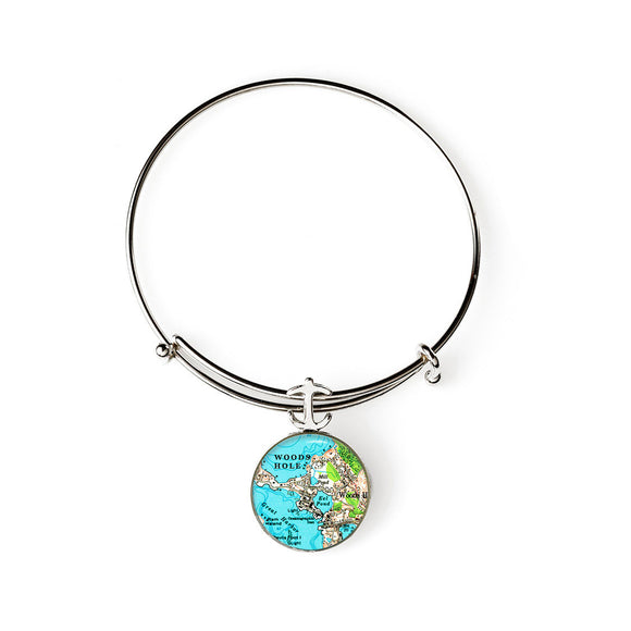 Woods Hole Expandable Bracelet with Anchor Charm