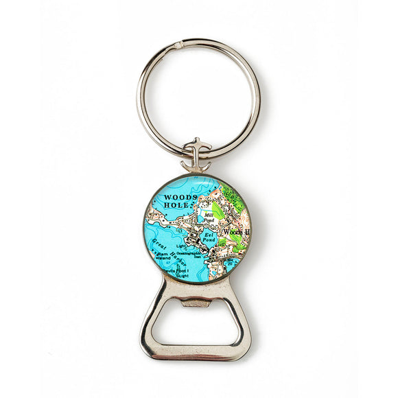 Woods Hole Combination Bottle Opener with Key Ring