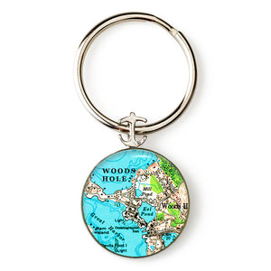Woods Hole Anchor Key Ring