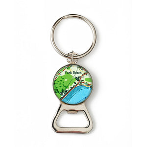 York Beach Combination Bottle Opener with Key Ring