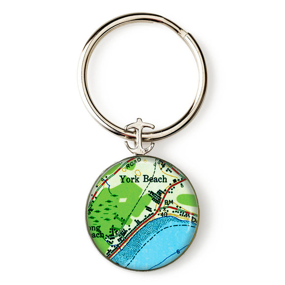 York Beach Anchor Key Ring