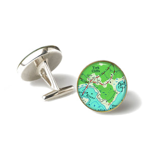 York Cliffs Anchor Cufflinks