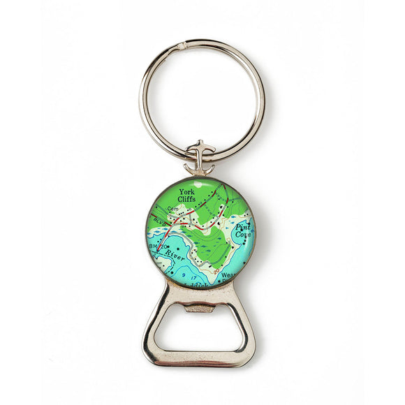 York Cliffs Combination Bottle Opener with Key Ring