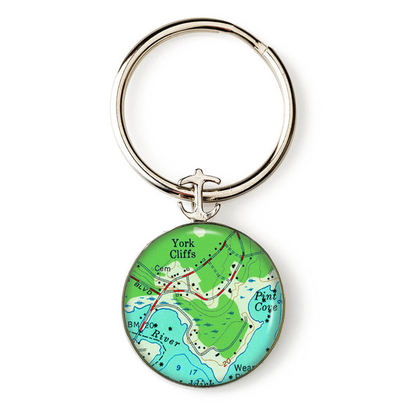 York Cliffs Anchor Key Ring
