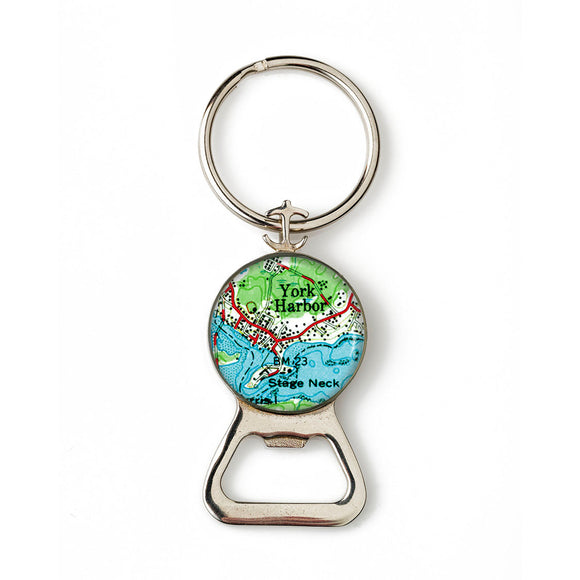 York Harbor Stage Neck Combination Bottle Opener with Key Ring