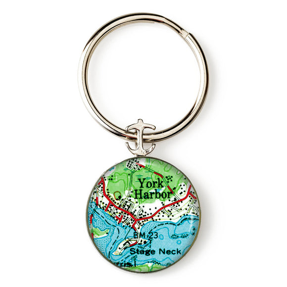 York Harbor Stage Neck Anchor Key Ring