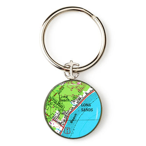 York Long Sands Anchor Key Ring