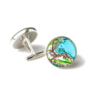 York Short Sands Anchor Cufflinks